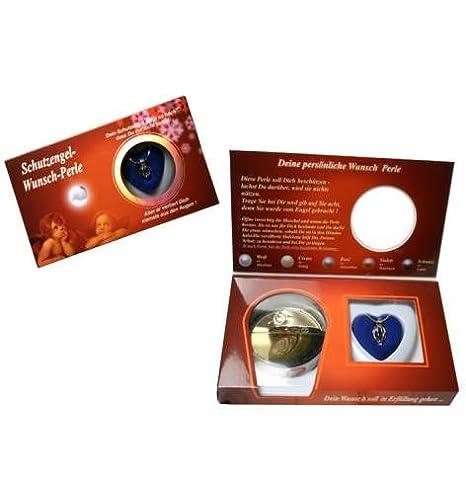 2 Packung Verpackungseinheit Geschenkset Schutzengel Wunschperle mit Kette