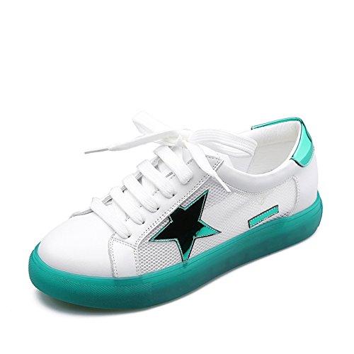 Encaje zapatos casuales de tacón bajo/ hilado de la red zapatos planos huecos A