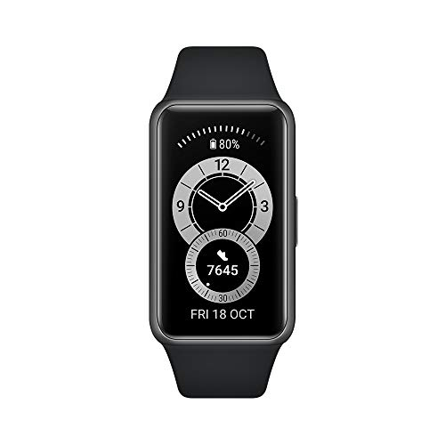 Huawei Band 6 Smartwatch, sporthorloge + adapter type C, bewaking van het hartritme, SpO2 en slaap, 96 trainingsmodi…
