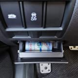 JKCOVER Interior Inner ABS Black Fuse Box Coin Container Storage Tray Compatible with Subaru XV Crosstrek Forester Outback Legacy Impreza WRX STI