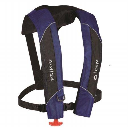 Onyx 132000-500-004-15 A & M-24 Automatic - Manual Inflatable Life Jacket44; Blue