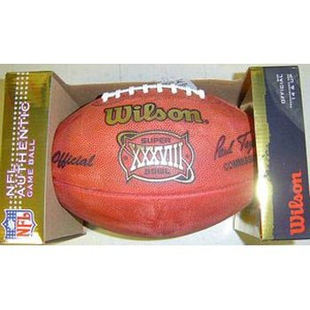 (Super Bowl 38 XXXVIII Wilson Official NFL Game Football)