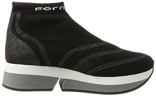 Fornarina Women's Selfie Trainers, Grey, 4 Black (Black 000)