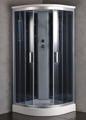 "Luxury Kokss 9918 Shower enclosure 36"" x 36"" Multi function hand shower and overhead rain. Modern shower enclosure with futuristic look, Computer control panel, home bathroom design by bath masters (Image #1)"