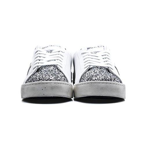 A Collezione 2018 W Donna Estate T Bianco In Colore White Hill Sneakers Primavera nuvoa Argento Silver E Pelle Pop Argent D Low SnCxBdwqC