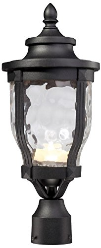 Minka Lavery 8766-66-L 1 Light LED Post Mount Lighting, Black Finish