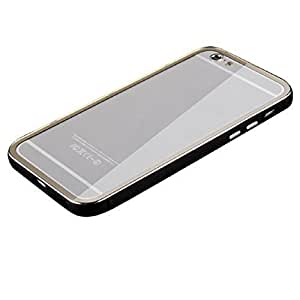 popular case Luxury Ultra thin Metal Aluminum Bumper Case Back PC Cover For Iphone 5 5s (Black)