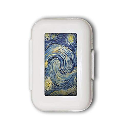 Van Gogh Pill Box,Pill Organizer Case for Purse Daily/Weekly Unique Design and Large Compartments Medicine Case, Pill Box for Pocket or Purse