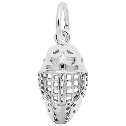 Rembrandt Charms Hockey Mask Charm, Sterling Silver