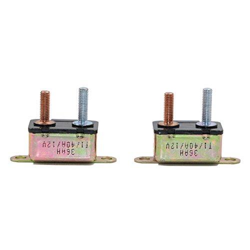 T Tocas 12V 40A 2pcs Stud Type I Circuit Breaker