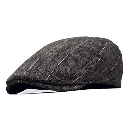 (Clape Irish Cabbie Scally Cap Plaid Ivy Scally Driver Cap Wool Blend Herringbone Tweed Newsboy Cabbie Gatsby Golf Beret)