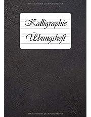 Zeszyt do kaligrafii: 9 różnych liniatury do kaligrafii i ręcznego liternictwa w jednej książeczce | DIN A4 | 110 arkuszy do ćwiczeń do pięknego pisania