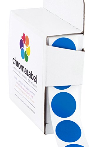 3/4 Removable Dark Blue, Color-Code Dot Labels | Clean-Remove Adhesive,