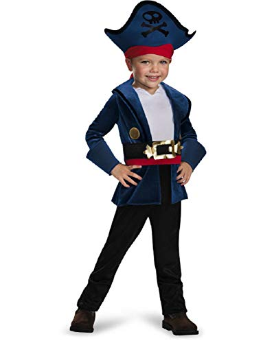 Captain Jake And The Neverland Pirates Classic Toddlers Costume Size 3-4T