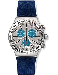 Swatch Men's Irony YVS435 Blue Rubber Swiss Quartz Dress Watch
