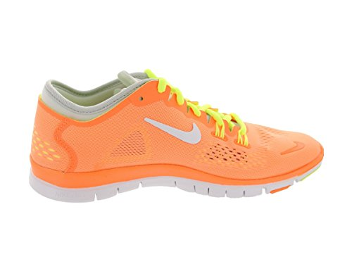 Nike Wmn Nike Free 5.0 Tr Fit 4 Prt - Zapatillas para mujer atomic orange/white-volt-light base grey