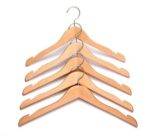 Gancio Naturale Con Pezzi Camicia Grucce Spalle Di Rivestimento 8 Vestito Intagliate Rogours Cromato Vestiti Legno Di Finitura Del Finitura Naturale T7xTqHPA