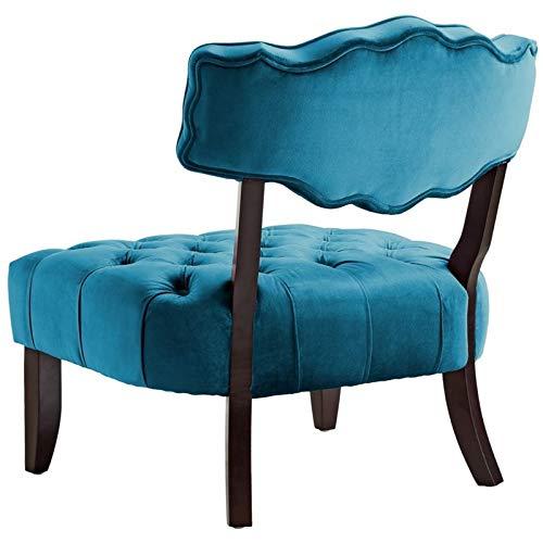 Awesome Amazon Com Posh Living Adrian Teal Velvet Accent Chair Machost Co Dining Chair Design Ideas Machostcouk