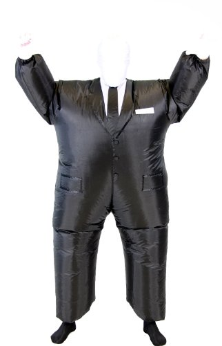 [Slender Man Chub Suit Adult Costume] (Slender Man Skin Suit)