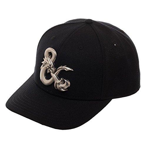 Dungeons & Dragons Ampersand Acrylic Wo Snapback Baseball Cap (Ampersand Black)