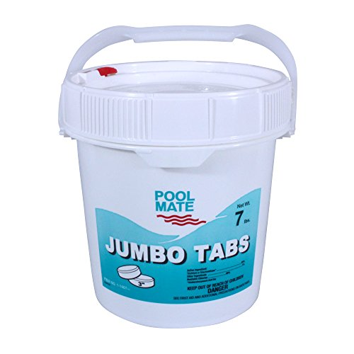 Pool Mate 1-1407 Jumbo 3-Inch Chlorine Tablets, 7-Pound ()