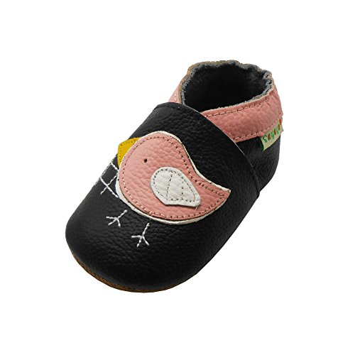 Sayoyo Baby Cute Bird Soft Sole Leather Infant Toddler Prewalker Shoes (6-12 months)
