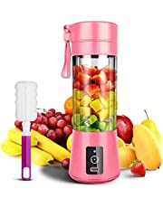 Portable Blender, Smoothie Juicer Cup, Personal Mini Blender for Smoothies, 380ml, 13oz 2000mAh Powerful USB Rechargeable Travel Handheld Fruit Juicer, for Sports, Office, Travel, Gym, and Outdoors