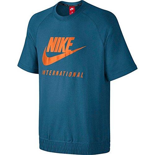eb619a37 NIKE Men's International Short Sleeve Crew Shirt Industrial Blue 834306-457  Size Medium