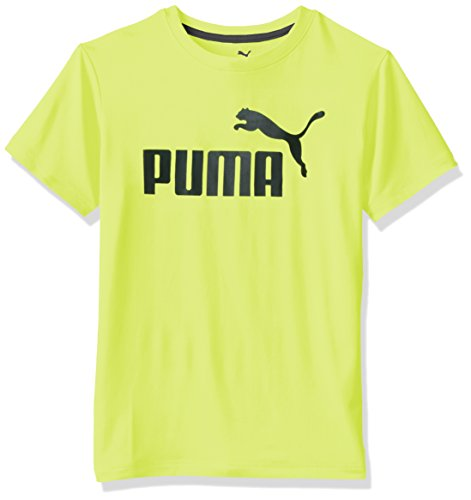PUMA Big Boys' No.1 Logo Tee, Acid Yellow, - Puma Yellow