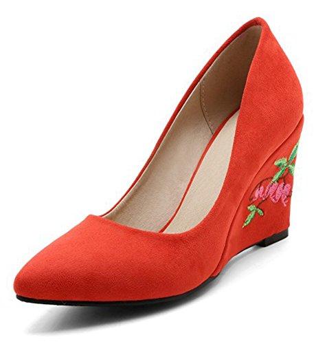 Scarpe Elegante Slip On Donna A Dressy Aisun Cut Ricamato Low Fiore gpxzzqUS