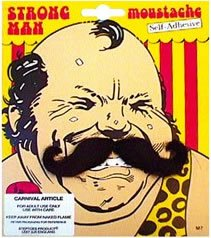 (Strongman Fancy Dress Moustache Tash)