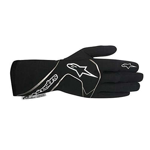 Alpinestars 3551117-12B-XL Tech 1 Race Gloves, Black/White, Size XL, SFI 3.3 Level 5/FIA 8856-200