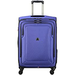 """Delsey Luggage Cruise Lite Softside 25"""" Exp. Spinner Suiter Trolley, Blue"""