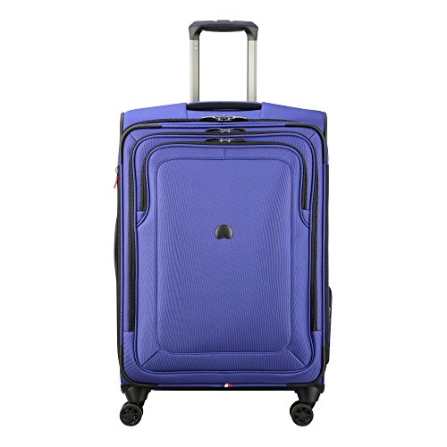 Delsey Luggage Cruise Lite Softside 25'' Exp. Spinner Suiter Trolley, Blue by DELSEY Paris