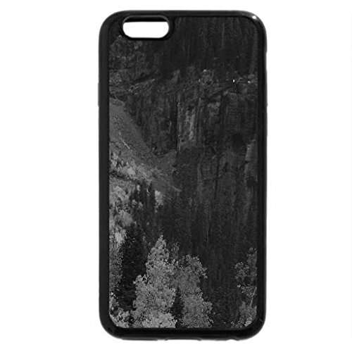 iPhone 6S Plus Case, iPhone 6 Plus Case (Black & White) - house above a tall waterfall