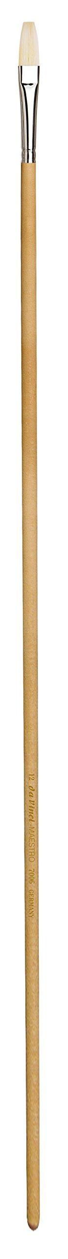 da Vinci Mural Series 7006 Maestro Paint Brush, Flat Hand-Interlocked Hog Bristle with 24-Inch Handle, Size 12
