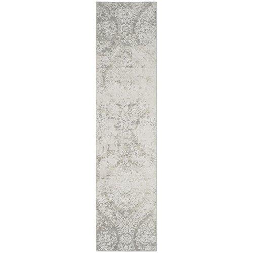 Safavieh Princeton Collection PRN715G Vintage Grey and Beige Distressed Runner (2' x 10') by Safavieh