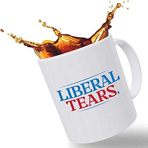 Liberal Tears Funny Coffee Mug | Novelty Gifts for Man or Woman | Christmas Stocking Stuffer or Birthday Gift to Laugh with Your Friends