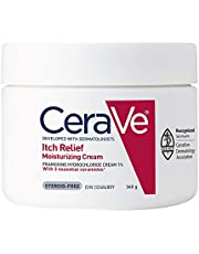CeraVe Moisturizing Cream for Itch Relief   minor skin irritation & scrapes Itch Relief Cream with Pramoxine Hydrochloride   Fragrance Free   340g, 340 Grams