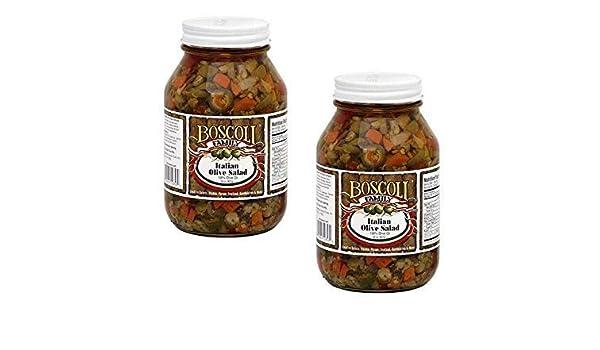 Amazon Com Boscoli Family Italian Olive Salad Giardiniera