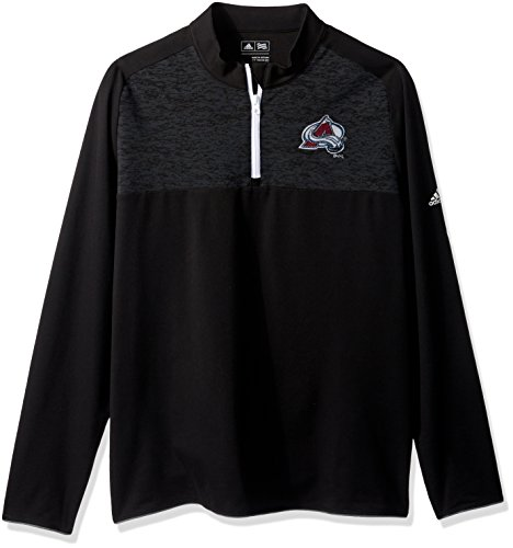 NHL Colorado Avalanche Men's Climawarm Fashion 2 Layering Pullover Top, Small, Black