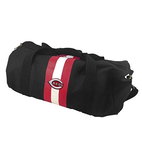 MLB Cincinnati Reds Rugby Duffel Bag, Black