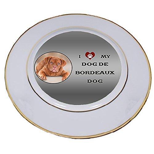 I Love My Dog De Bordeaux Porcelain Plate Bordeaux Accent Plate