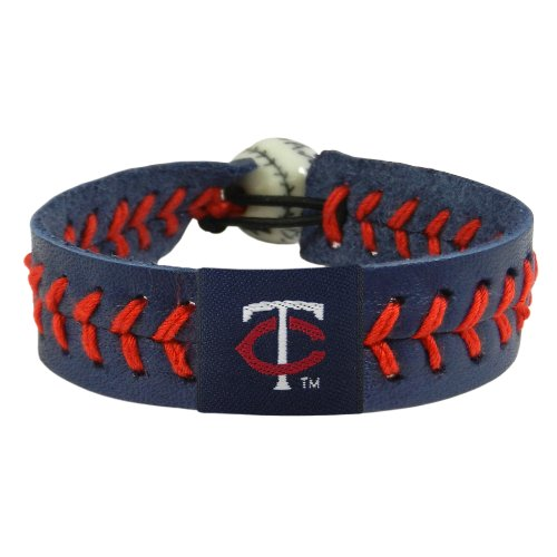 (MLB Minnesota Twins Team Color Baseball Bracelet)
