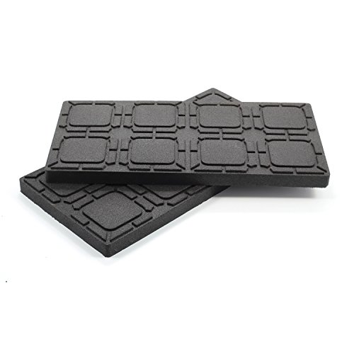 "Camco Leveling Block Non-Slip Pad - Helps Prevent Jacks and Stabilizer from Sinking into The Ground |Can Be Used on Uneven Surfaces| UV Resistant & Weatherproof |Measures 8 ½"" x 17""   - 4 Pack  (44591)"