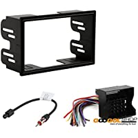 VOLKSWAGEN 1999 - 2002 JETTA (W/ FACTORY DOUBLE DIN RADIO) CAR STEREO DASH INSTALL MOUNTING KIT WIRE HARNESS RADIO ANTENNA