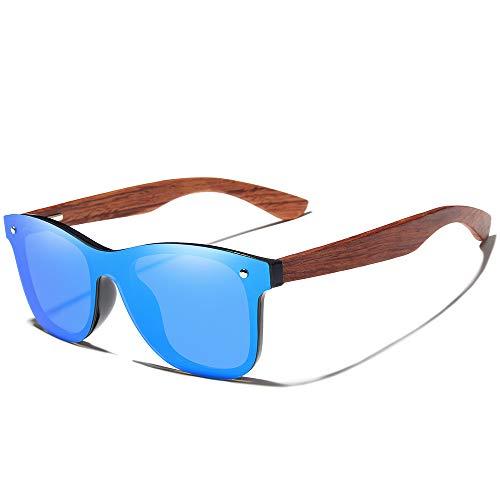 Bamboo Wood Polarized Sunglasses- Ultra-Light Maple Frame, Mirror Lenses,The Best Choice For Men & Women Travelers! ()