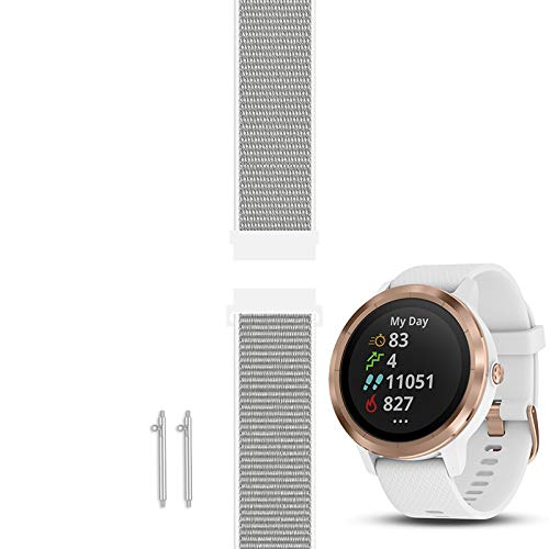 C2D Joy Compatible with Garmin Vivoactive 3 (Music) and Vivomove (HR) Replacement Band with Custom Quick Release Spring Bar, Sport Mesh Strap Nylon Weave Watchband for Sports - 13#, M (6.1-8.5 in.)