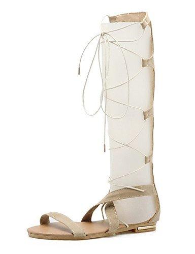 LFNLYX Zapatos de mujer-Tacón Plano-Innovador-Sandalias-Oficina y Trabajo / Vestido / Casual / Fiesta y Noche-Cuero Patentado-Negro / Amarillo / beige