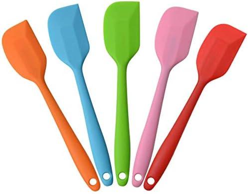 """Silicone Spatulas 8.5/"""" Small Heat Resistant Non-Stick Flexible Rubber Scrapers"""